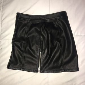 Express Faux Leather Mini Skirt